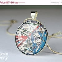 ON SALE: photo charms,vintage Washington map jewelry pendant,art pendant charms,love resin pendants- M0001CP