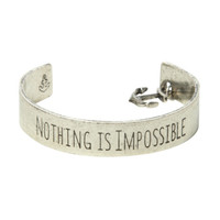 LOVEsick Nothing Is Impossible Cuff Bracelet