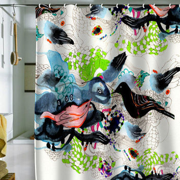 Randi Antonsen Birds 7 Shower Curtain