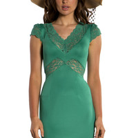 Venus Green Cut Out Lace Dress Online Shopping | Vavavoom.ie