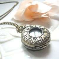 SALEThe Roman Pocket Watch Necklace Vinatge Pocket by ninexmuse