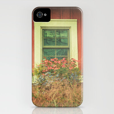 White Window on Red House iPhone Case by Joy StClaire | Society6
