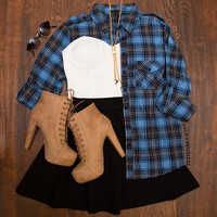 Park Avenue Plaid Top