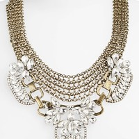 BP. Crystal Mesh Statement Necklace (Juniors)