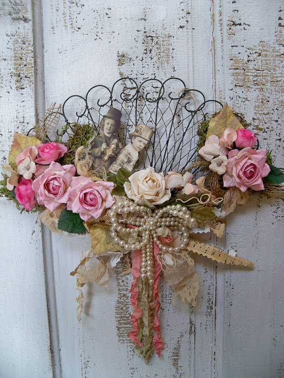 Shabby Chic Victorian Fan Decorated Wall From AnitaSperoDesign On