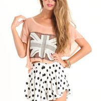 Emsy Pemsy Flag Top - $28.00 : ThreadSence.com, Your Spot For Indie Clothing & Indie Urban Culture