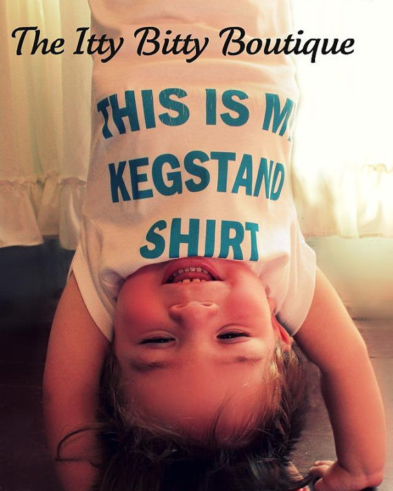 This Is My Kegstand Shirt - Funny Baby Onesuit - Toddler Tee also available - Your Color Choice