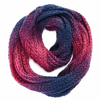 Marled Ombre Infinity Scarf