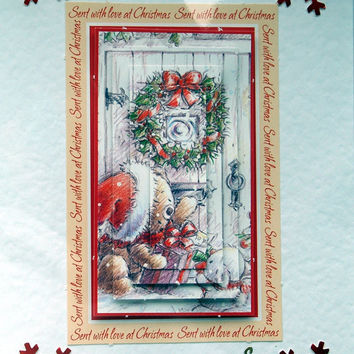 Christmas Card - Happy Christmas Hand-Crafted 3D Layered Card - Happy Christmas (1767)