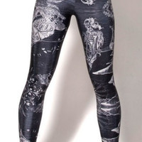 Birth of Venus Leggings in Black