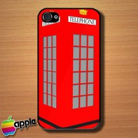 Red Phone Box Custom iPhone 4 or 4S Case Cover