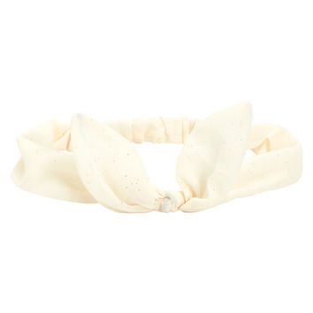 Aeropostale Womens Solid Bow Headband - Beige, One