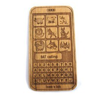 Smart phone toy - Wooden cell Phone toy - all natural wood teether for baby