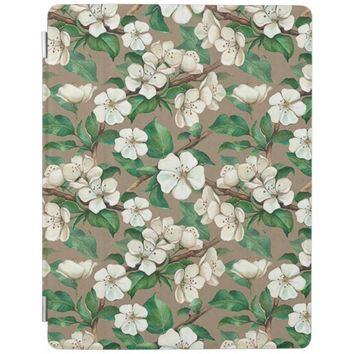 Spring Apple Tree Blossom Flower Pattern iPad Cover