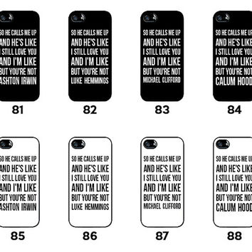 ALL IN - 5SOS - 5 Seconds of Summer - Ashton Irwin - Luke Hemmings - Michael Clifford - Calum Hood - for iPhone 4 / 4S / 5 / 5C / 5S - SOS