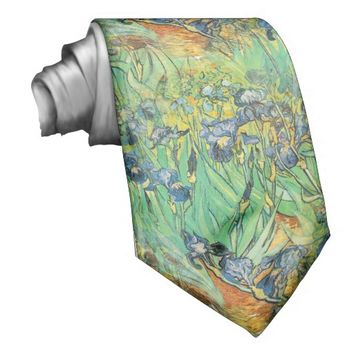 Irises Flower Art Tie