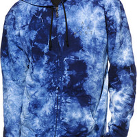 Altamont Big Spiral Tie Dye Zip Up Hoodie