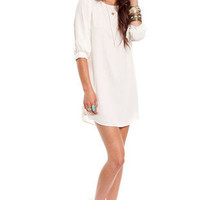 Audrey Shift Dress in Mint :: tobi