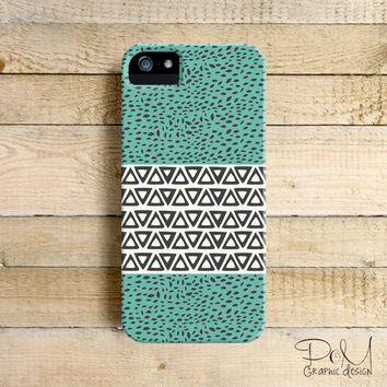 River Aqua Tribal Path Art Phone Case for iPhone 4, 4s, 5, 5s, 5c and Samsung Galaxy S3 & S4