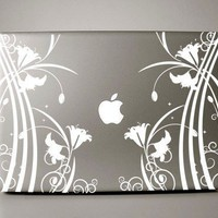 Floroco Floral -  MacBook Decal Mac decal MacBook pro decal MacBook sticker