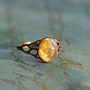 Golden Topaz glass Opal Ring.