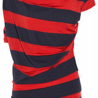 Vivienne Westwood Anglomania|Drape striped jersey top|NET-A-PORTER.COM