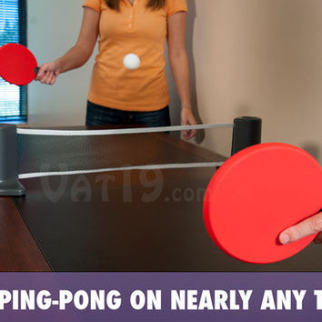 Pongo: Play Ping-Pong on nearly any table.