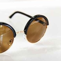 Leather-Wrap Round Sunglasses - Urban Outfitters