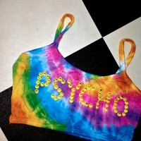 SWEET LORD O'MIGHTY! PSYCHO BABY BRALET IN TIEDYE