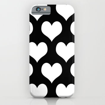 Hearts of Love Black & White iPhone & iPod Case by BeautifulHomes