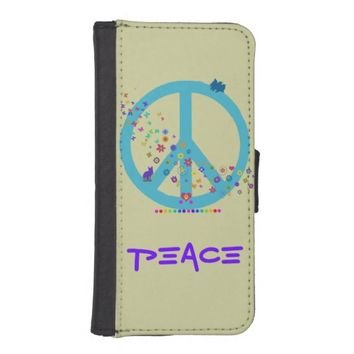 Peace Sign with Rainbow Colors