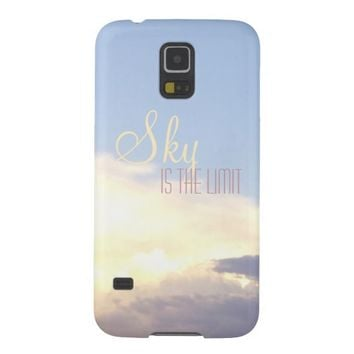 Beautiful sunset sky picture with yellow clouds for galaxy S5 case
