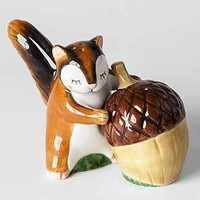 Squirrel And Acorn Salt + Pepper Shaker Set - Urban Outfitters