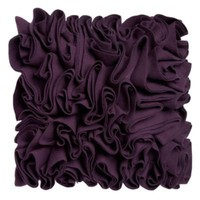 Purple felt ripple pillow - Cushions - Bedding - Home &amp; furniture -