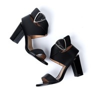 Thick Heel Wrap Sandals