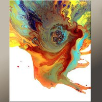 Abstract Art Print  Matted Modern Contemporary Wall Art Prints by Destiny Womack - dWo - Eye of the Storm