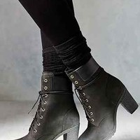 Timberland Glancy Black Heeled Boot - Urban Outfitters