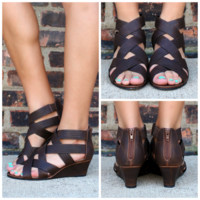 Simply Strapping Wedge - COGNAC /