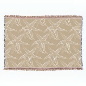 Starfish Beach Sand Throw Blanket