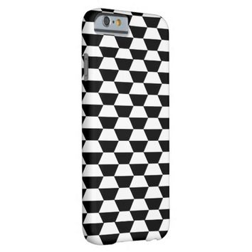 HEXAGONS (BLACK AND WHITE PATTERN) iPhone 6 Case