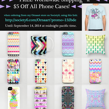 FREE SHIPPING In My Ornaart Shop + $5 OFF All Phone Cases - till September 14, 2014 by Ornaart | Society6