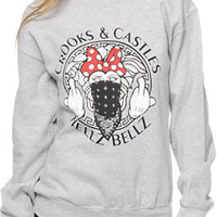Crooks and Castles x Hellz Bellz Minidusa Crew Neck Sweatshirt