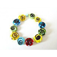 Multicolored Children's Beaded Bracelet - D'Zign Jewelry