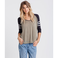 Billabong Women's Taking Blame Baseball Top