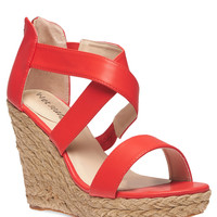 Cross Strap Wedge-Wide Width | Wet Seal