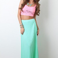 Summer Mint Maxi Skirt