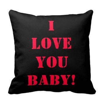 I Love You Baby Pillow