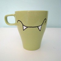 Hand painted vampire mug by squackdoodle on Etsy