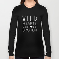 Wild Hearts Long Sleeve T-shirts by Rachel Sample
