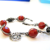 Sterling Silver Carnelian bracelet